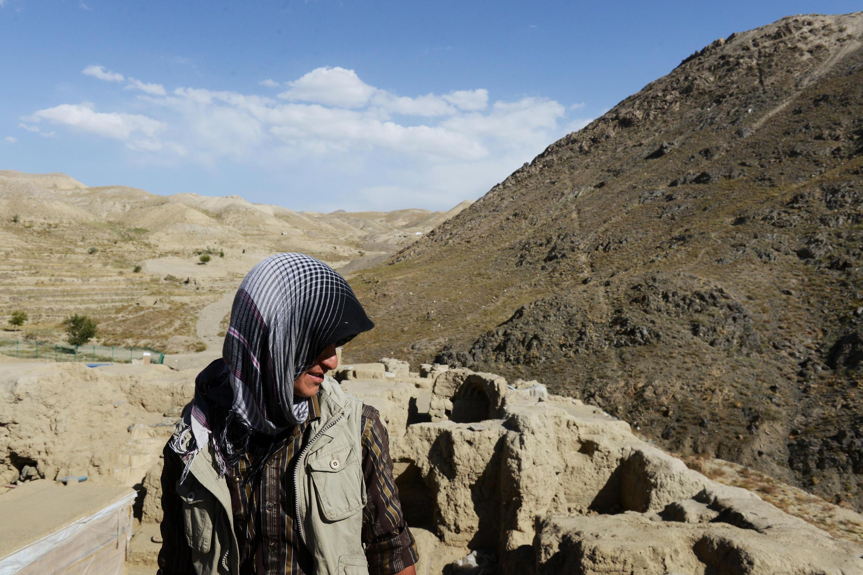Les restes d'un ancien site bouddhiste dans les montagnes arides de Mes Aynak, en Afghanistan.