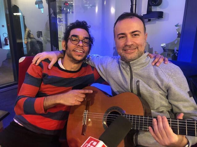 Daniel Podsk e Vittorio Saponaro (d) nos estúdios da RFI, pouco antes do show na capital francesa.