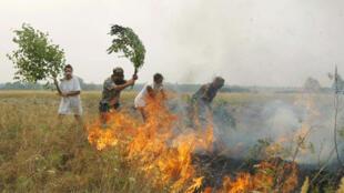 Пожар под Рязанью