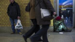 El número de personas sin hogar ha crecido en Europa. Berlín, diciembre de 2012.