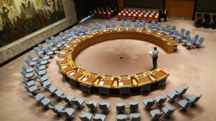 La sala de reunión del Consejo de Seguridad de la ONU en Nueva York, el 20 de septiembre de 2017