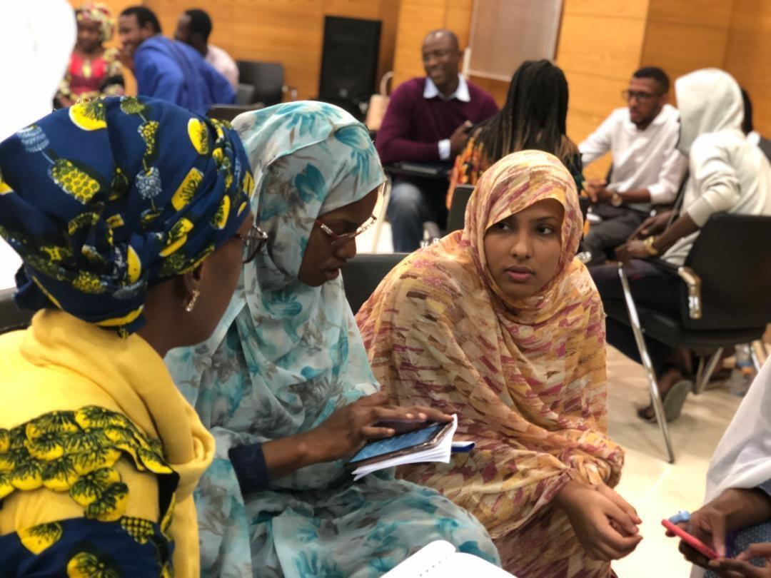 """""""We want education and youth empowerment"""" says Mauritanian delegation. Female Mauritanian entrepreneurs at an ideation and prototype workshop at i-Lab incubator in Nouakchott."""