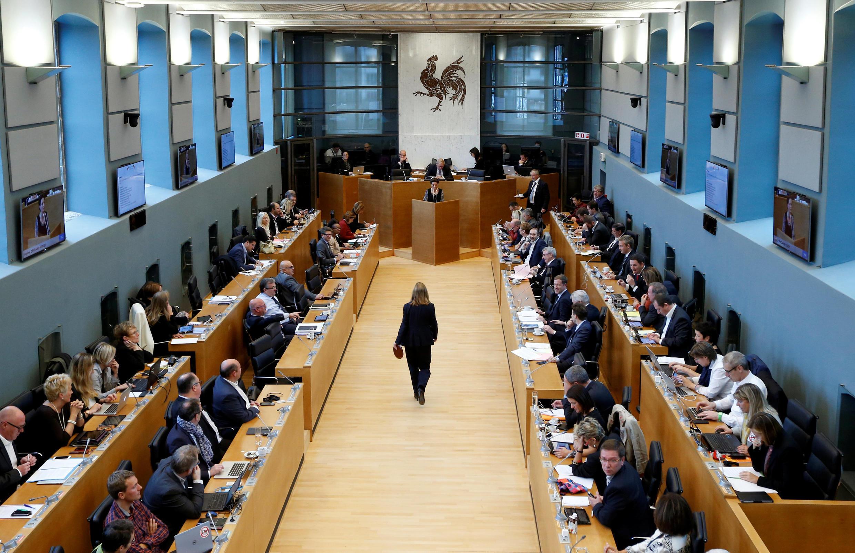 Nghị viện Wallonie trong buổi tranh luận về hiệp định tự do mậu dịch giữa châu Âu và Canada (Ceta), ngày 14/10/2016.