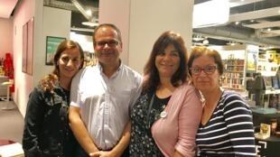Adriana Rodrigues, Roberto Rodrigues, Lídia Albornoz e Aura Gomes