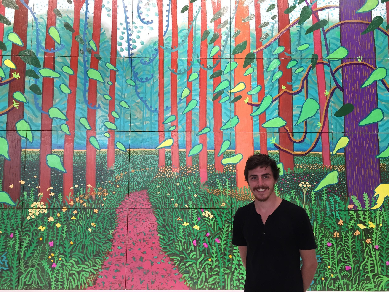 """Guilherme Queiroz e a obra doada ao Centro Pompidou """"A Chegada da Primavera"""""""