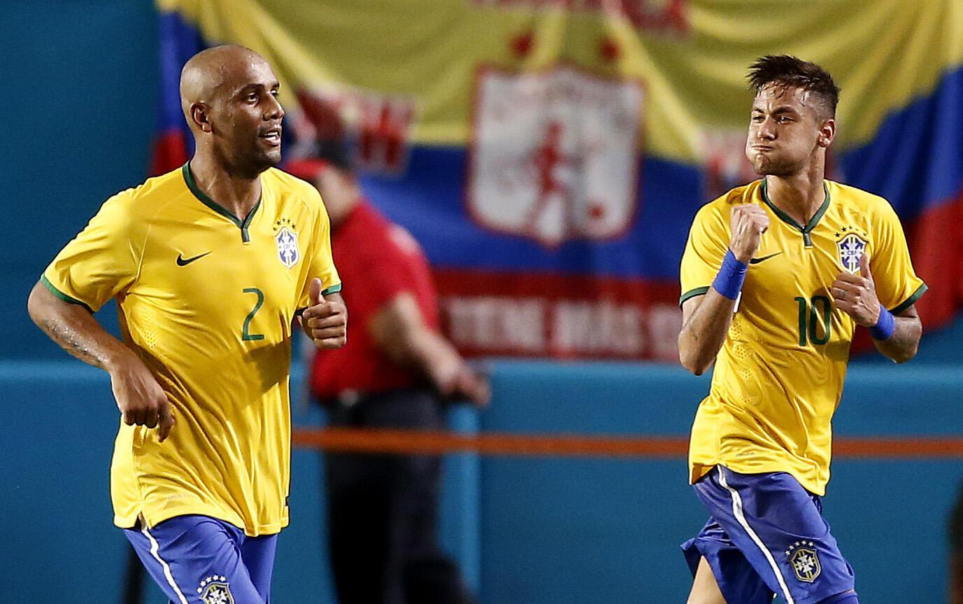 Capitão do Brasil no amistoso contra a Colômbia, Neymar marcou seu 36° gol pela Seleção.
