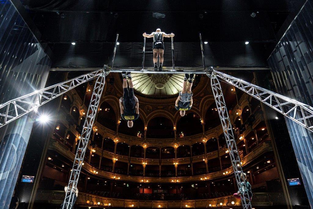 Répétition du spectacle «Parade» au théâtre du Chatelet.
