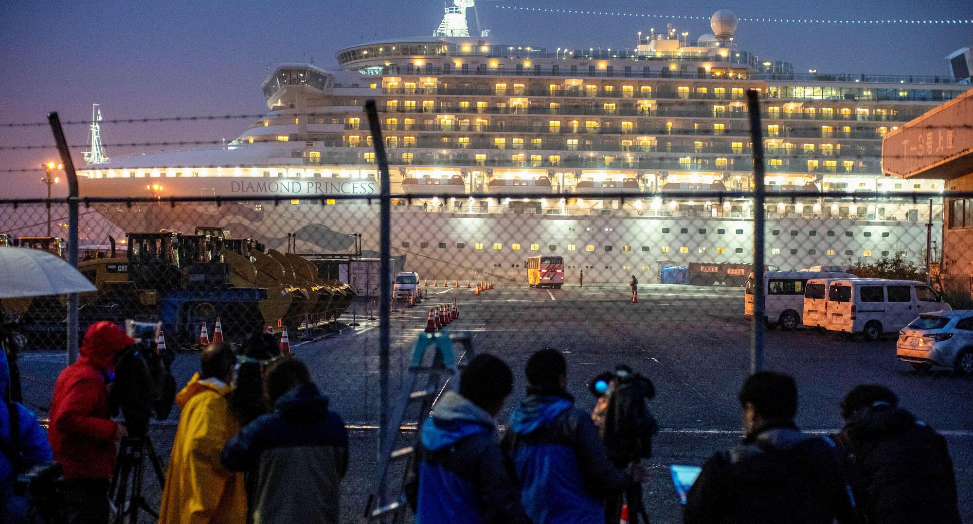 Du thuyền Diamond Princess tại Yokohama- Nhật Bản. Ảnh ngày 16/02/2020.