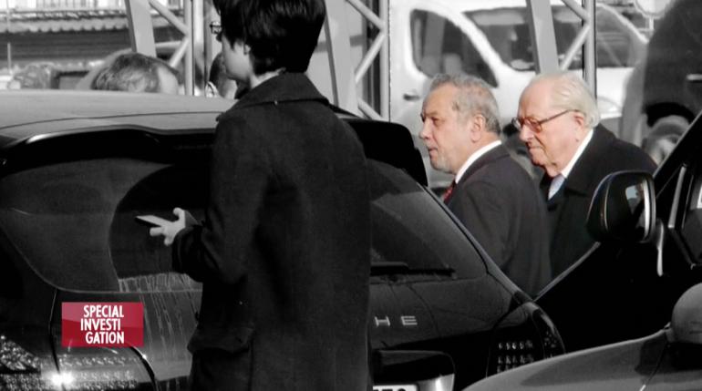 Зураб Чавчавадзе, финансовый директор группы Маршал Капитал, и Жан-Мари Ле Пен, Москва, 2014.