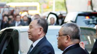 Mjumbe wa Korea Kaskazini Kim Yong-chol amewasili New York kwa maandalizi ya mkutano kati ya rais wa Marekani Donald Trump na kiongozi wa Korea Kaskazini Kim Jong-un, Mei 30, 2018.