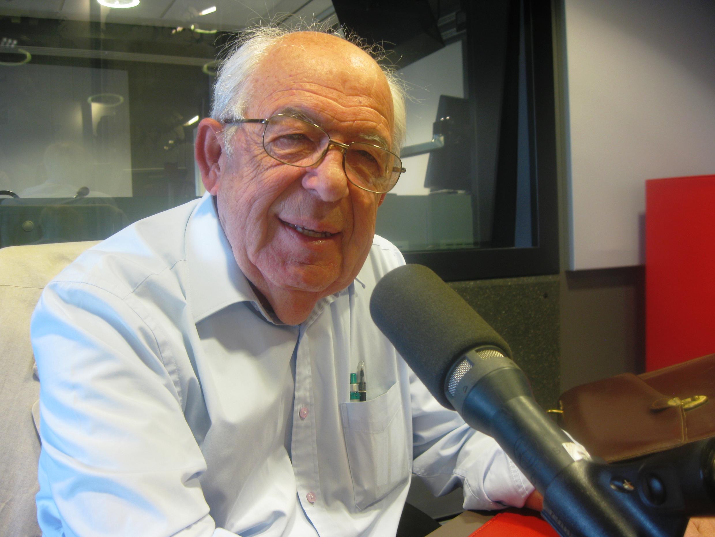 Bruno Susani en los estudios de RFI.