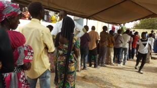 图为塞内加尔2019年2月24日总统选举投票