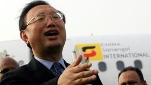 中国外长杨洁篪飞抵苏丹首都喀土穆2011年8月7日