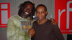 Tiken Jah Fakoly chez Claudy Siar, avant le concert de la star du reggae ivoirien, au Zénith, le 26 avril.