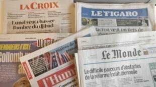 Primeiras páginas dos jornais franceses de 05 de abril de 2018