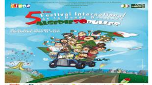 L'affiche du 5e festival international de la bande dessinée d'Alger, le FIBDA.
