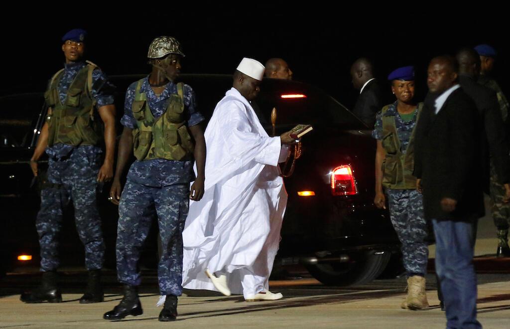 Yahya Jammeh lors de son départ de Gambie le 21 janvier 2017.