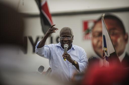 Afonso Dhlakama, em campanha para as eleições de Outubro 2014