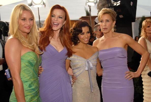Cuatro actrices de «Desperate Housewives». A la derecha, Felicity Huffman, que encarnó a Lynette Scavo.