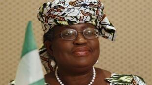 Shugabar Hukumar Kasuwanci ta Duniya Ngozi Okonjo-Iweala yayin wani jawabi a Pretoria a lokacin tana ministan kudin Najeriya a ranar 23 ga watan Maris shekarar 2012