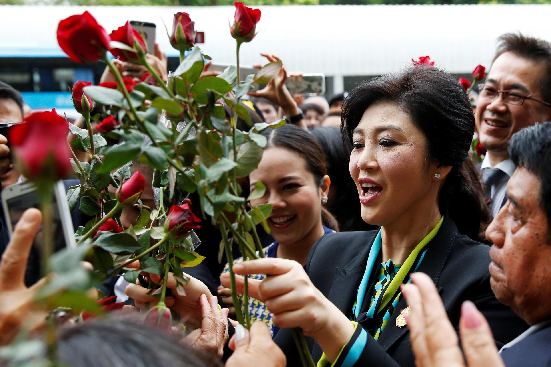 Cựu thủ tướng Yingluck trình diện Tòa án Tối cao Bangkok ngày 05/08/2016.