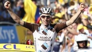 法国选手巴尔岱(Romain Bardet)获得阶段冠军