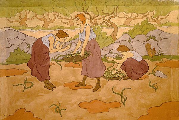 Поль Рансон. Три женщины за сбором урожая. 1895. Департаментальный музей Мориса Дени, Сен-Жермен-ан-Ле