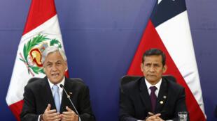 Los presidentes Sebastián Piñera y Ollanta Humala afirmaron que acatarán el fallo.