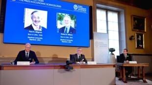 2020诺贝尔经济学奖授予保罗·米尔格罗姆(Paul R.Milgrom)和罗伯特·威尔逊(Robert B.Wilson)2020年10月12日.