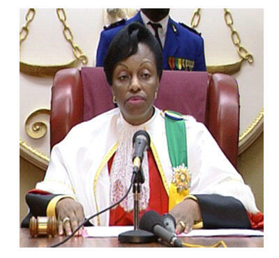 Marie-Madeleine Mborantsuo, présidente de la Cour constitutionnelle du Gabon.