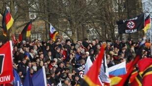 Manifestation contre les migrants à Dresde, dans l'est de l'Allemagne, le 6 février 2016. (Photo d'illustration)