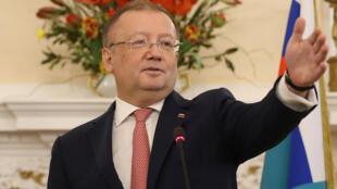 O embaixador russo em Londres, Alexandre Iakovenko.