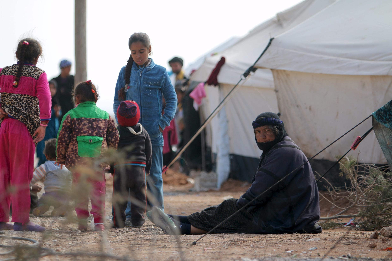 Лагерь для иракских беженцев в деревне Мабрука в Сирии
