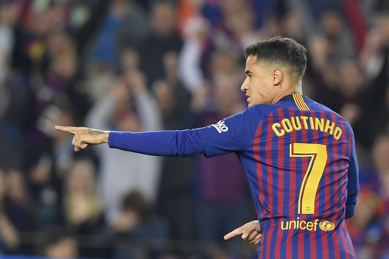 Le Brésilien du FC Barcelone, Philippe Coutinho, le 20 octobre 2018.