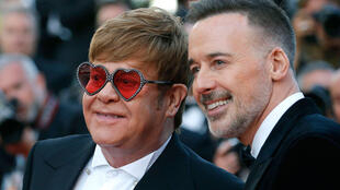 72ème Festival de Cannes, projection du film hors compétition «Rocketman». Elton John pose avec David Furnish à Cannes, France, le 16 mai 2019.