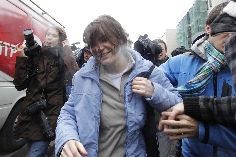 O Tribunal de Moscou concedeu liberdade condicional a Yekaterina Samutsevich