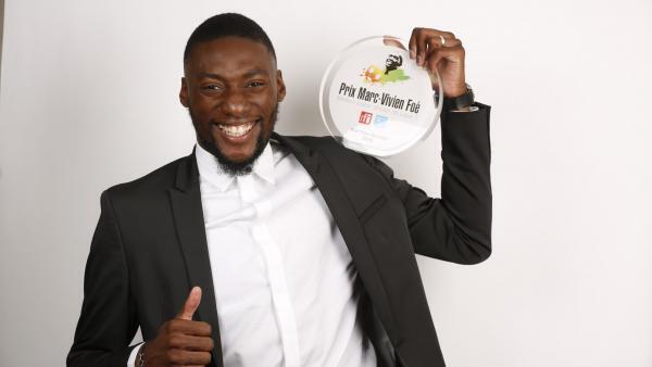 Le Camerounais Karl Toko Ekambi, lauréat du Prix Marc-Vivien Foé 2018.
