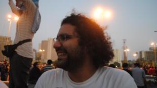 Alaa Abdel Fatah in Tahrir Square, June 2011.