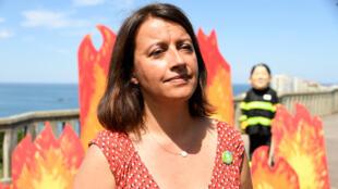 Cécile Duflot dans une manifestation en marge du G7 de Biarritz, le 23 août 2019.