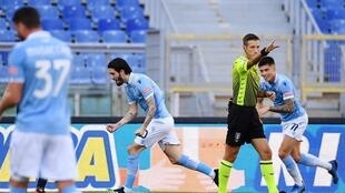 Spanish midfielder Luis Alberto (C) got Lazio back winning in Serie A against Sampdoria.
