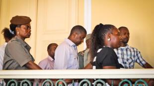 Ndambi Guebuza esta manhã no Tribunal Judicial de Maputo.