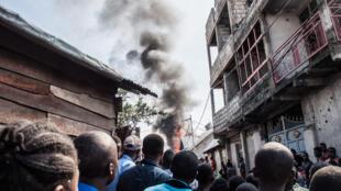 Un avion s'est écrasé dans le quartier densément peuplé de Biréré à Goma.