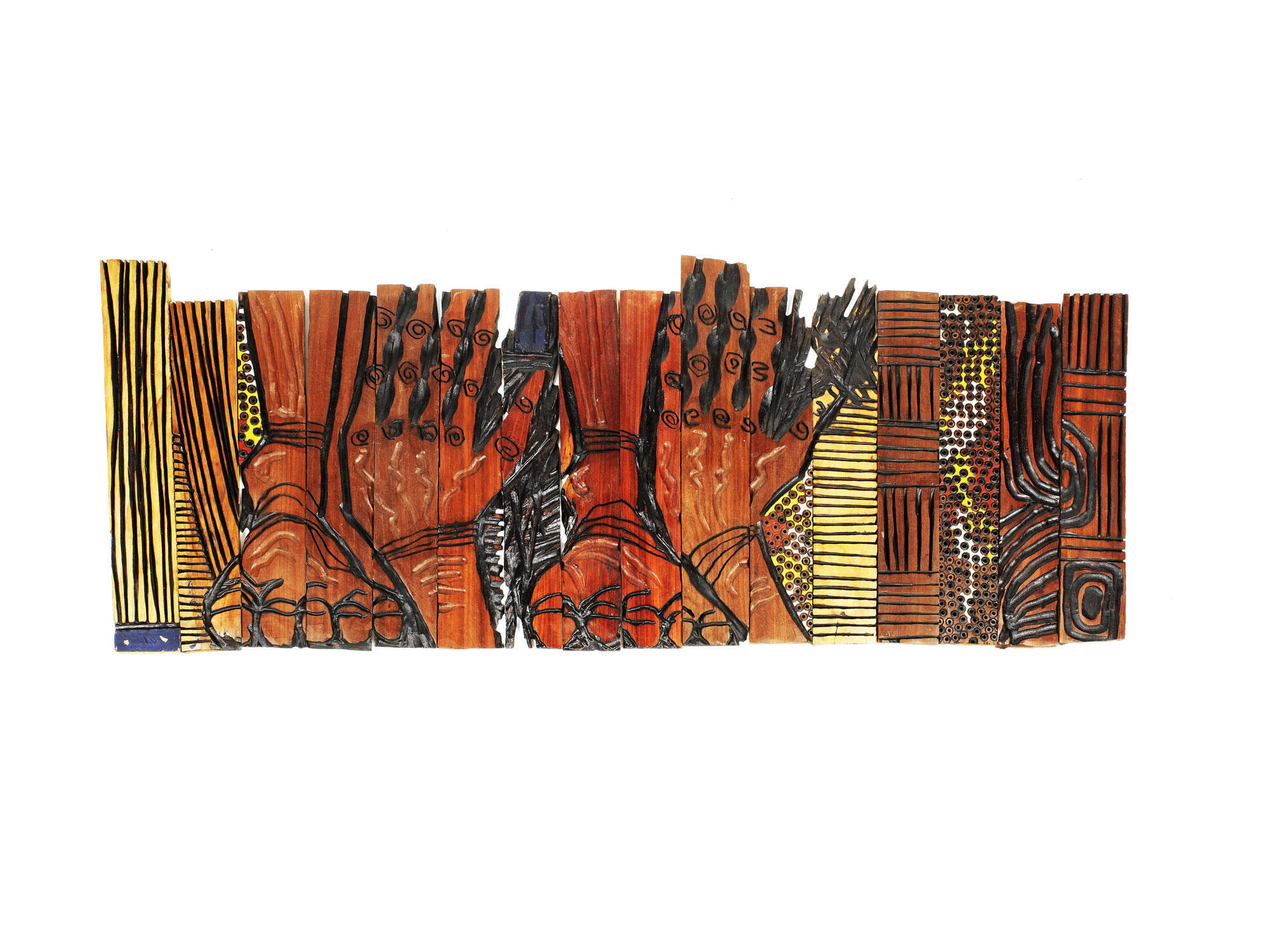 'Two Hands and Two Feet' by El Anatsui