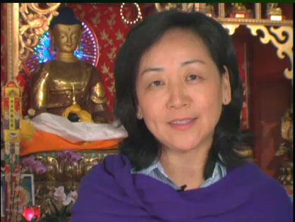 藏人行政中央外交和新闻事务噶伦德吉曲央。图片摄于2011年