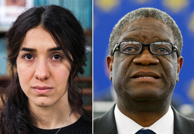 Nobel Prize for Peace 2018 : cô Yazidi Nadia Murad và bác sĩ Denis Mukwege.