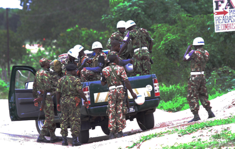 Militares moçambicanos. Imagem de Arquivo.