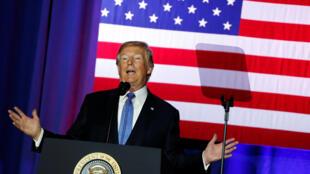 TT. Donald Trump tại Indianapolis vận động cho kế hoạch cải tổ thuế khóa. Ảnh ngày 27/09/2017.