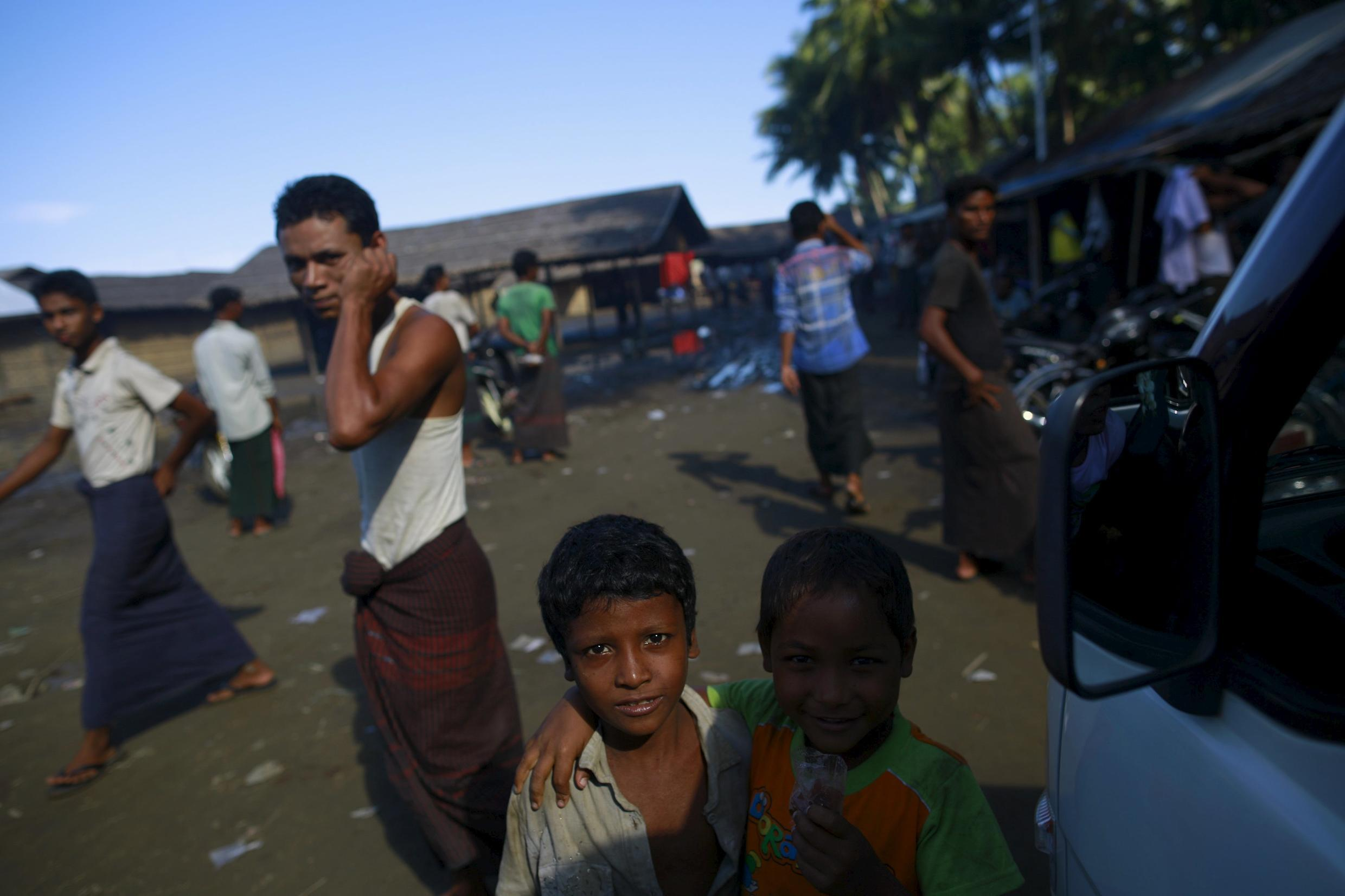 A Rohingya camp in Sittwe, Burma on 20 May 2015. The report's authors say ethnic Rohingyas who are Muslim face an increasing number of brutal attacks in Myanmar