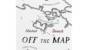 La première de couverture de «Off the Map» d'Alastair Bonnett.