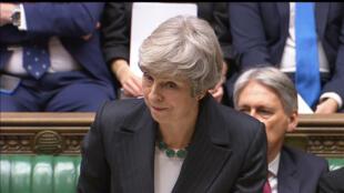Thủ tướng Anh Theresa May trình bày về Brexit tại Hạ Viện, Luân Đôn, 15/11/2018.